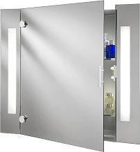 Armadietto a specchio Silva con illuminazione
