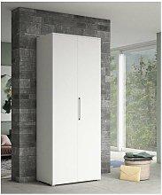 armadio bianco a 2 ante, 80x52x207 cm