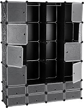 Armadio Cubo Guardaroba Modulare con 16 Scomparti