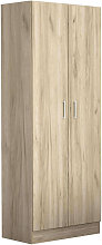 armadio due ante di design spazioso in legno