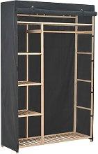 Armadio Grigio 110x40x170 cm in Tessuto