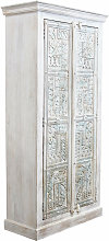 armadio legno di mango bianco di design moderno