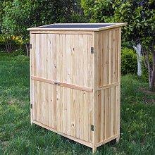 Armadio porta attrezzi a 2 ante da esterno legno