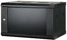 "Armadio Rack Cabinet 19"" a Muro 6U P450 Nero"