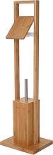 Arredo bagno serie HWC-B18 legno bambu portarotolo