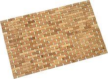 Arredo bagno serie HWC-B18 legno bambu tappetino