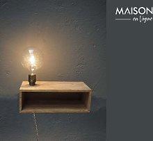 Arsy lampada da parete e mensola in legno