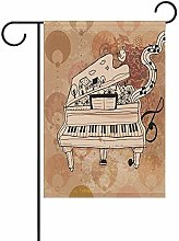 Art Piano Note Musicali Bandiera da Giardino 12,5