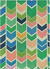 Arte Astratta Colorato Verde Bandiera del Giardino