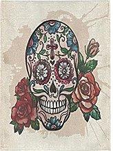 Arte Del Teschio Rosa Rosa Bandiera del Giardino
