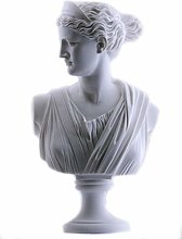 Artemis Diana Busto Testa Greca Romana Dea Statua