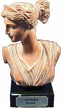Artemis scultura Diana busto Antica Dea greca di
