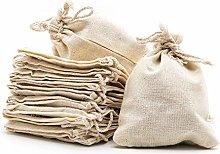 Artestar, sacchetto in cotone e lino con coulisse,