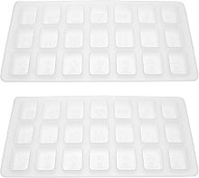 Artibetter 2Pcs Stampo In Silicone Cinese Mahjong