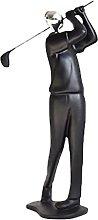 Artigianato Scultura Statua Black Resina Style