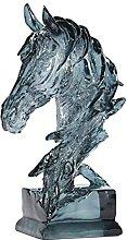 Artigianato Scultura Statua Ciano trasparente