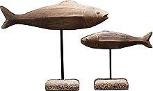Artigianato Scultura Statua Set di due strisce