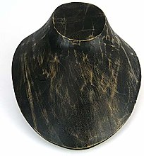 Artisanal 'Busto Espositore a collana in legno