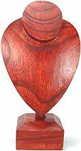 Artisanal Red-Tinted Solido Legno di