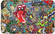 Artista Musica Collage Su Grande Muro Di Mattoni