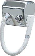 Asciugacapelli elettrico con pulsante phon parete