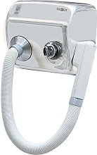 Asciugacapelli elettrico phon da parete acciaio