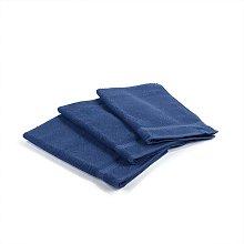 Asciugamano Ospite Oceano  in Cotone Blu Caleffi