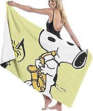 asdew987 Snoopy, telo da mare, set da bagno,