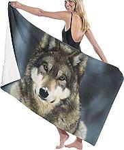 asdew987 Vegnewswolf, telo da mare, set da bagno,