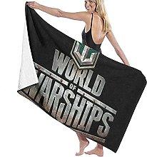 asdew987 World Of Warships - Set di asciugamani da