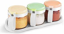 ASDFGH Scatole di spezie per condimento chiare -