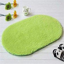 ASDWA - Tappeto da bagno ovale in cotone felpato,