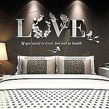 "Askwho Wall Sticker Frasi ""Love"" Adesivi 3D a"