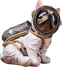 Astronauta Cane Statua Figurina Bulldog Scultura