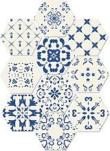 Asupermall - 10 pezzi / set adesivo da pavimento