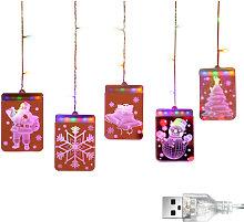 Asupermall - Decorazioni natalizie Luci a