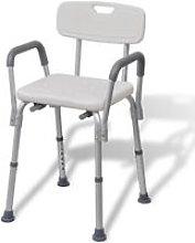 Asupermall - Sedia da Doccia in Alluminio Bianca