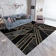 atami Il tappeto nero nel soggiorno è resistente