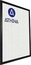 Athena Nero Frassino Cornice, Poster Dimensione,