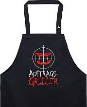 AUFTRAGS-GRILLER Grembiule da barbecue con scritta