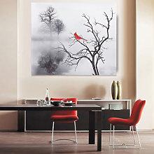 Augienb - Pittura a olio di uccelli su stampe su