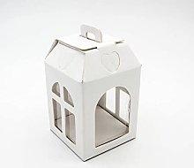 Aurora Store 10 Scatole in Cartone Bianco Lanterna