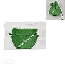 Aurora Store 12 Sacchetti Juta Verde con Laccio