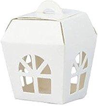 Aurora Store 50 Scatole in Cartone Bianco Lanterna