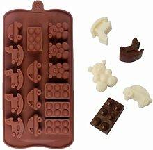 AUSUKY Stampo in silicone 3D per cioccolatini,