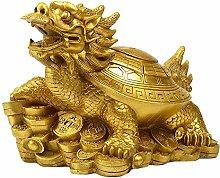 Auto parts Statua di Tartaruga di Drago in Ottone,