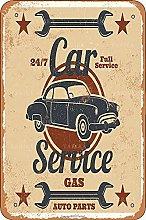 Auto Sevice Tin Look Vintage 20,5 x 30,5 cm