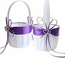 Awtlife - Cestino per fiori viola con doppio