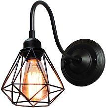 Axhup - Lampada da parete a LED retrò, lampada da