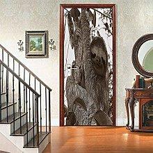 Azbza Adesivi per Porte su Misura 3D 80 x 200cm